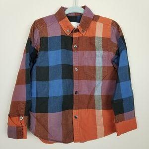 Burberry plaid button down shirt boys